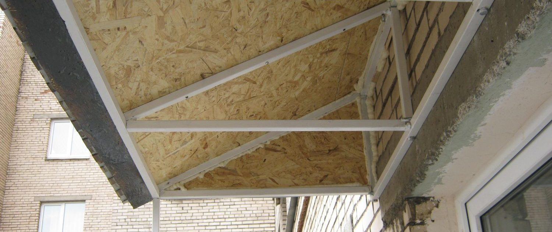 Крыша на балкон киев. цена на изготовление и монтаж крыши на.