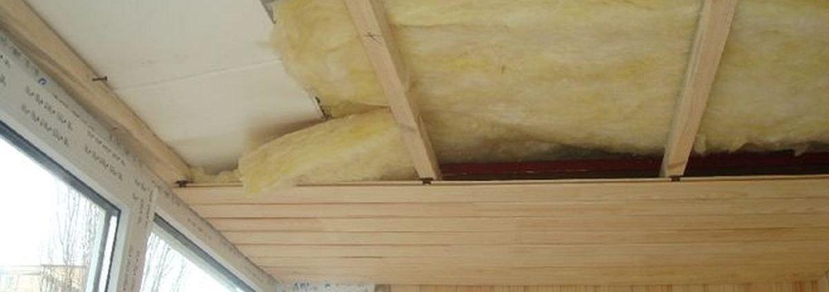 Отделка потолка балконов
