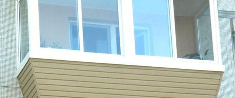 Остекление балконов снаружи из какого материала.