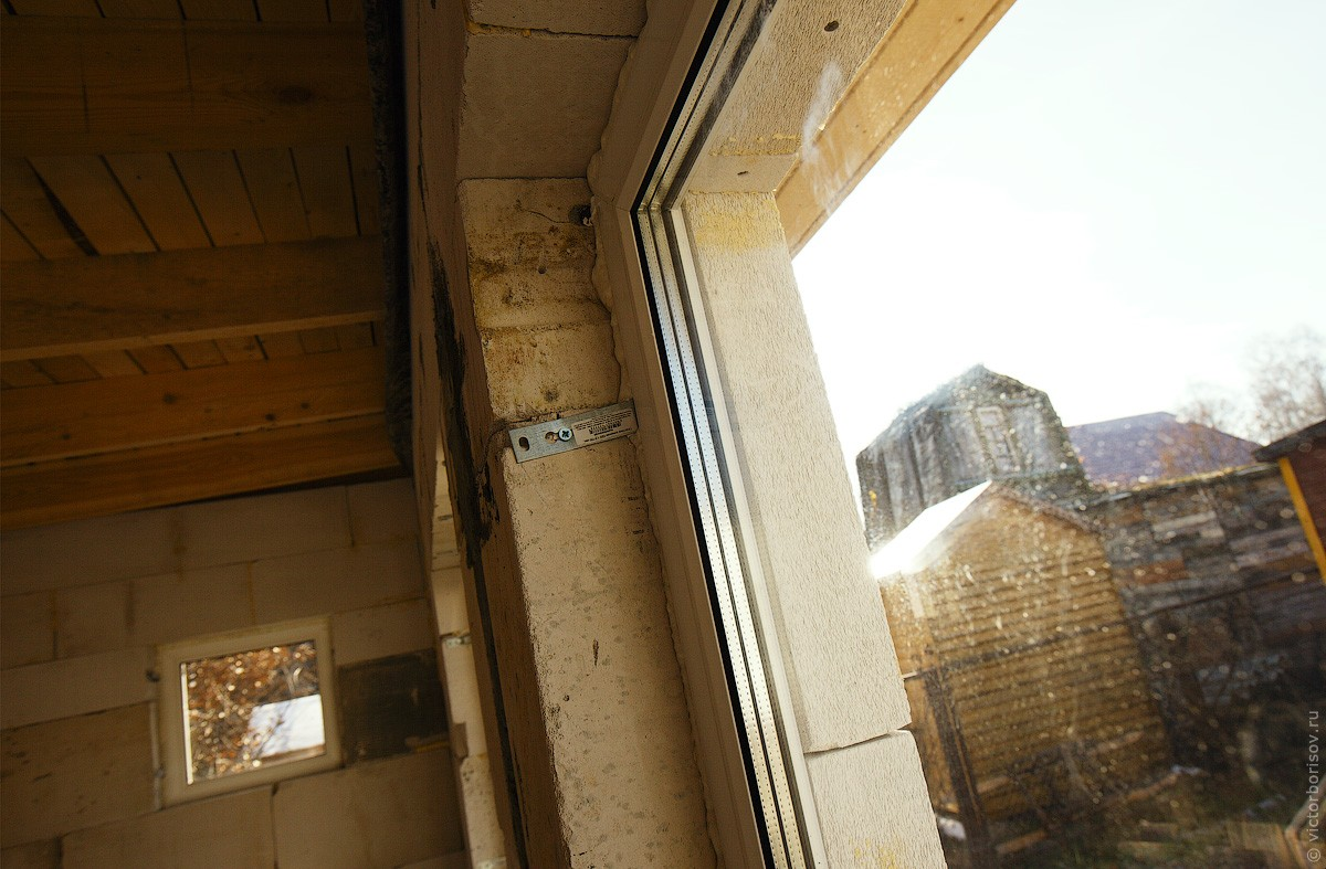установка пластиковых окон своими руками в газосиликатном доме