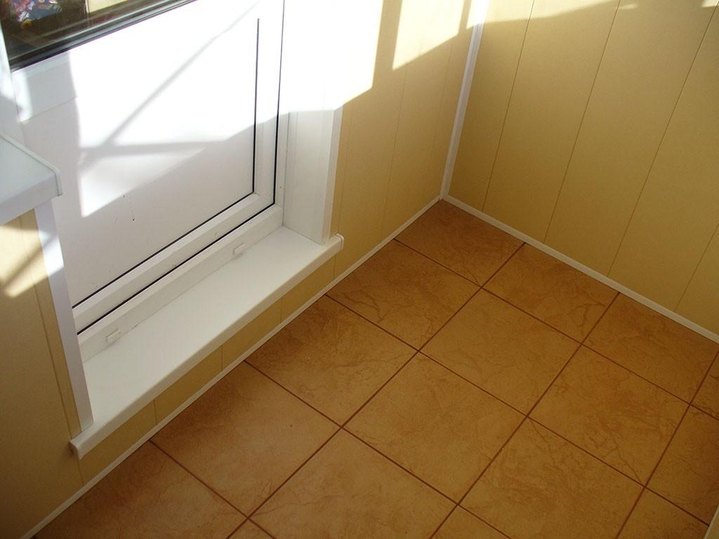 Отделка пола балкона лоджии - окна лорел.