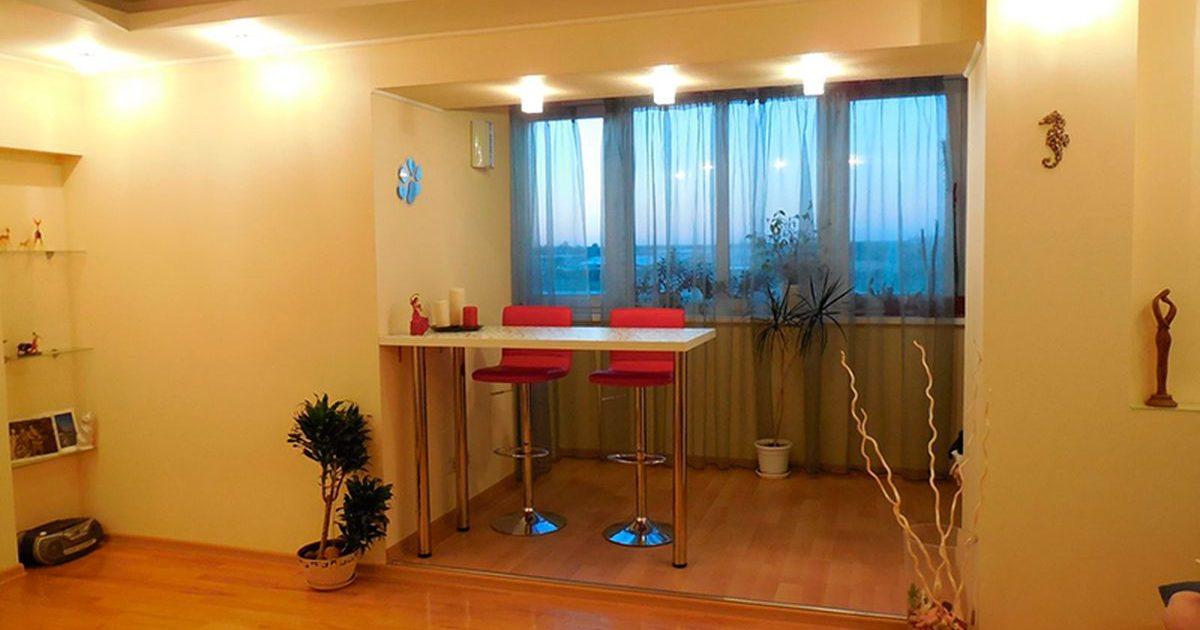 Лоджия как часть квартиры - простой способ увеличения простр.