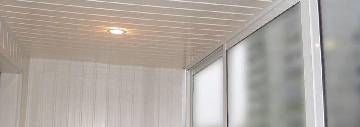 Отделка стен балконов
