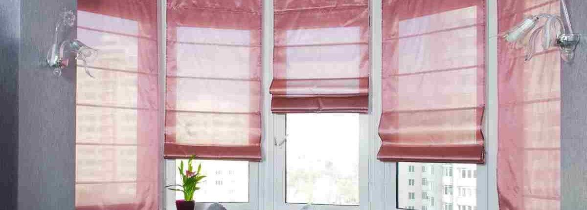 Окно как элемент дизайна - Римские шторы