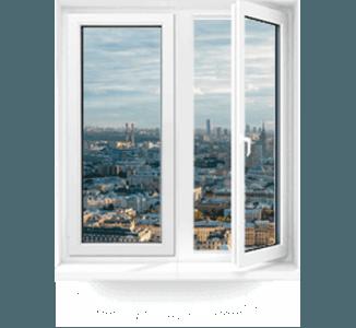 двустворчатые пластиковые окна
