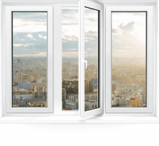 трехстворчатые пластиковые окна