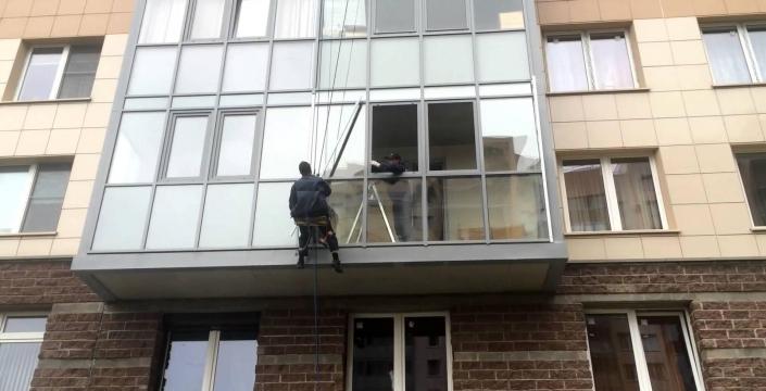 Замена холодного фасадного остекления ТАТПРОФ