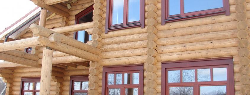 Пластиковые окна для деревянных домов